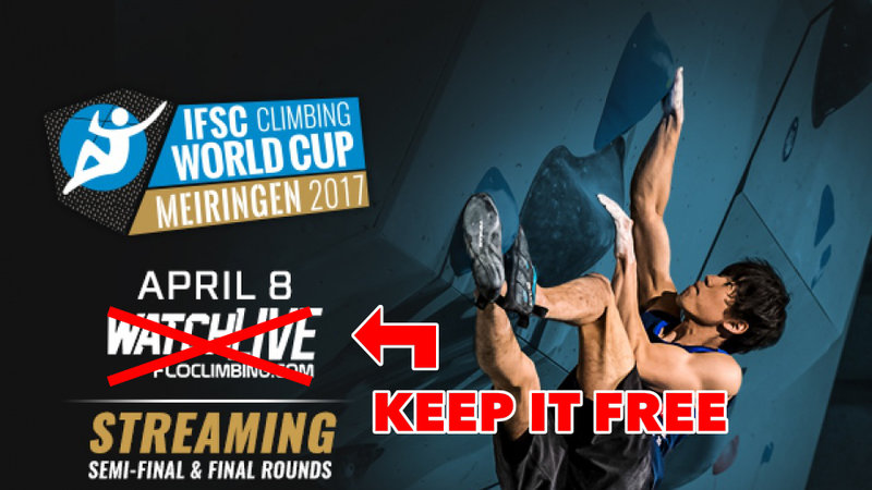 Keep IFSC Live-streaming free